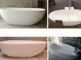 Luca Sanitair acryl, solid surface en mineral stone baden