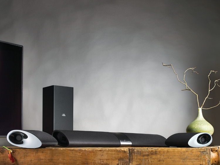 EISA Home Theater Innovation Award 2013-2014 voor Philips Fidelio SoundBar. De eerste soundbar met afneembare speakers.