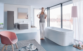Duravit pasteltinten in badkamerserie Happy D.2