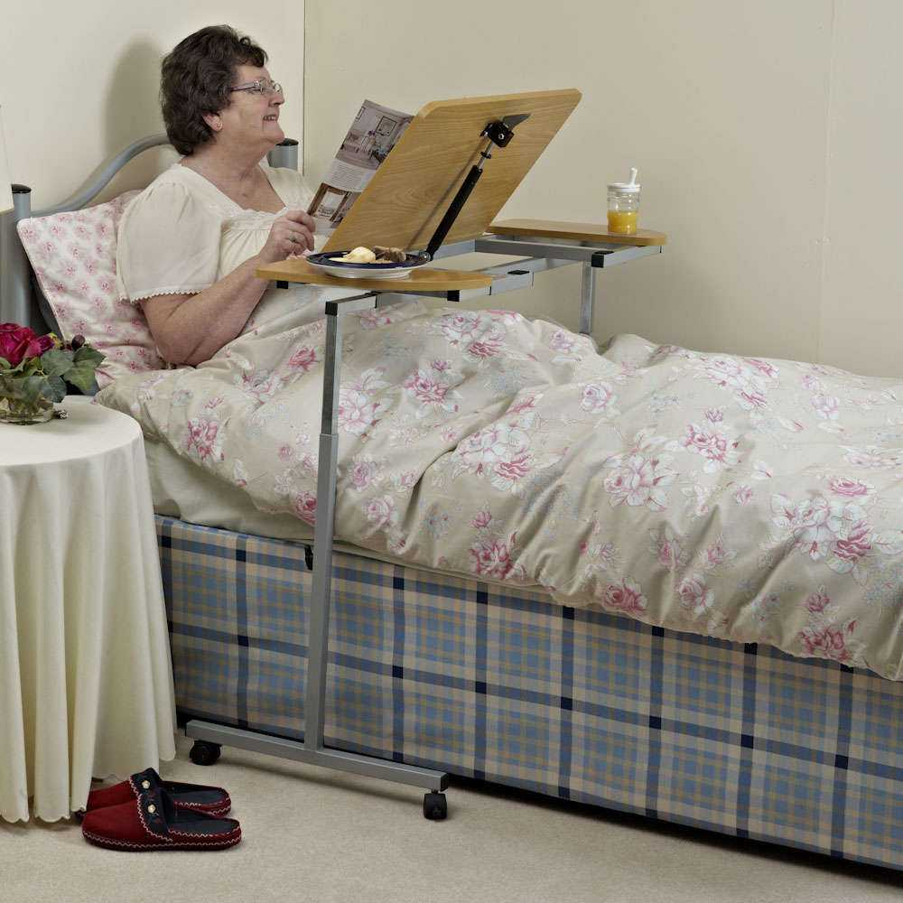 Bedtafel/M66832_2_Nrs_Adjustable_Tilting_Over_Bed_and_Over_Chair_Table.jpg