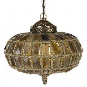 PTMD Sparkle brown glass lamp