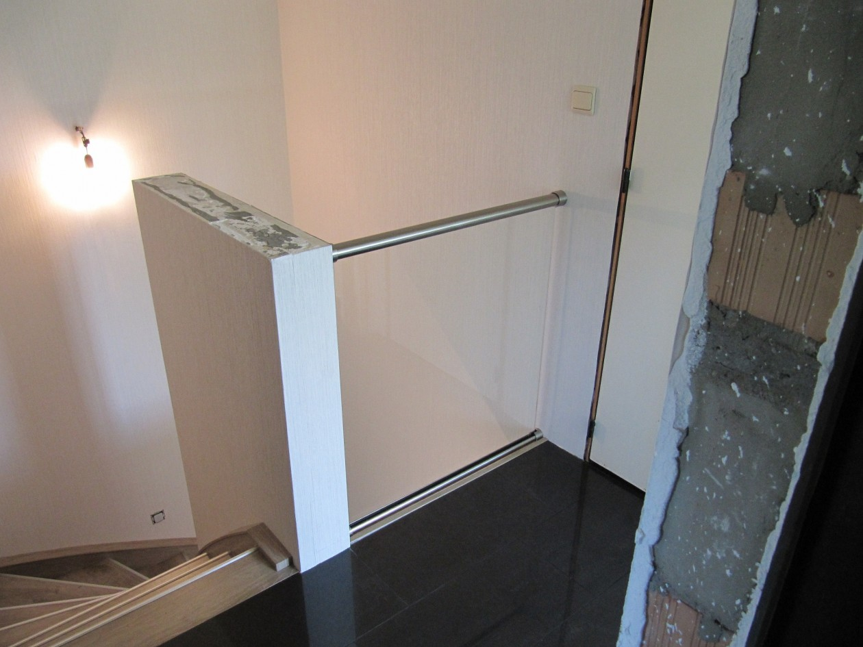 Glas balustrade trap verbouwen - Balustrade trap ...