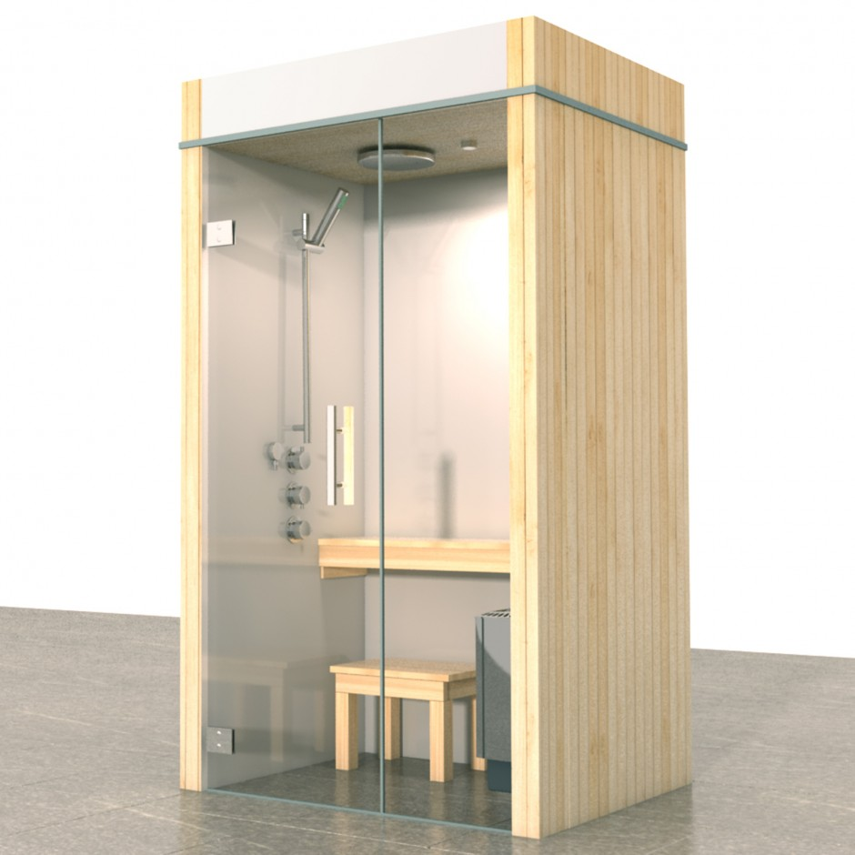 sauna douche combinatie sauna stoombad badkamer. Black Bedroom Furniture Sets. Home Design Ideas