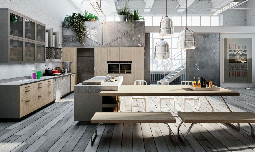 Keuken Model Cloe Italiaans Design : Loft-Style Kitchen