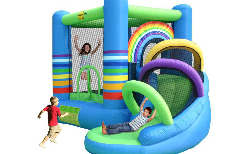Springkussens Happy Hop/happy-hop-rainbow-bouncy-castle-with-slide.png