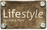 Het logo van Lifestyle verf by Global Paint