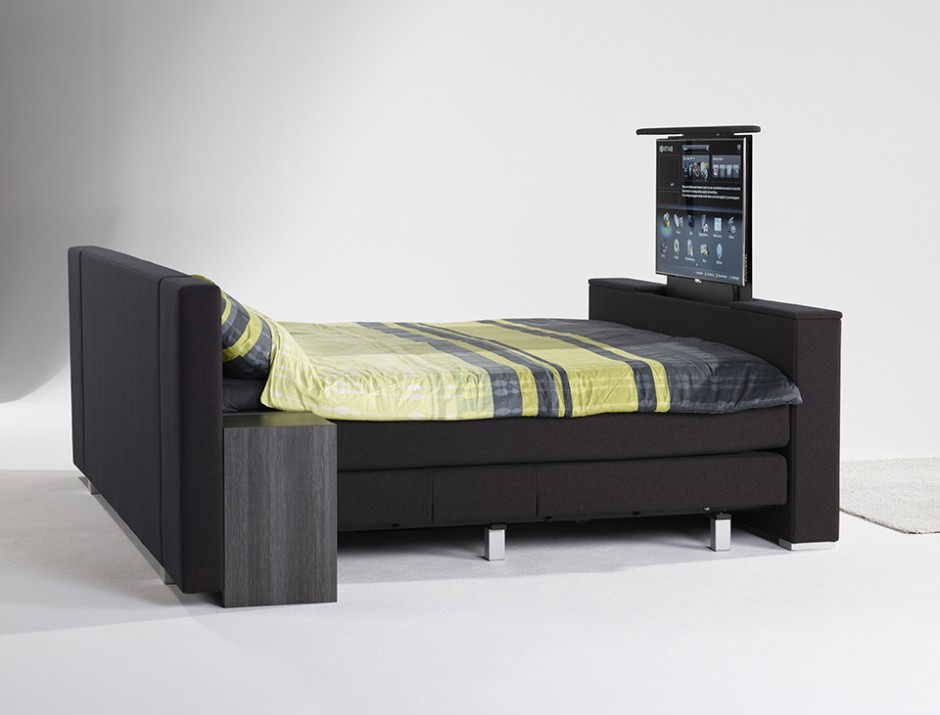 boxspring met tv boxspring slaapkamer. Black Bedroom Furniture Sets. Home Design Ideas