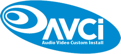 Het logo van Audio Video Custom Install AVCI
